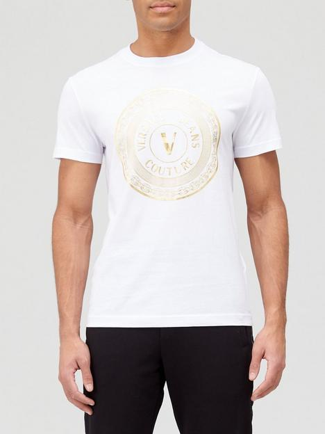 versace-jeans-couture-big-coin-foil-logo-t-shirt-white