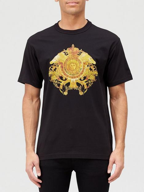 versace-jeans-couture-crystal-logo-t-shirt-black