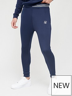 sik-silk-element-muscle-fit-cuff-jogger-navy