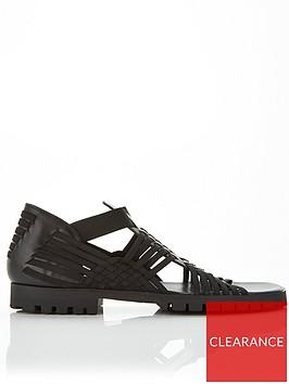 kenzo-grecian-sandals-black