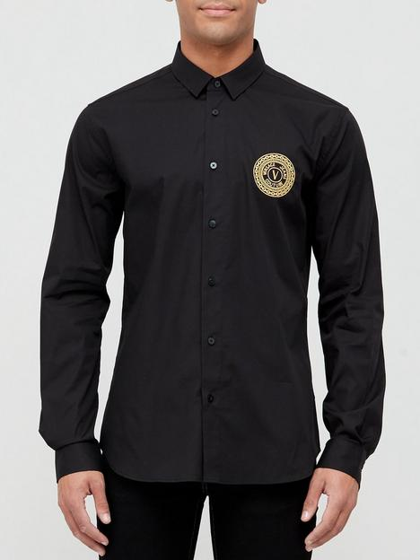 versace-jeans-couture-gold-coin-logo-slim-fit-shirt-black