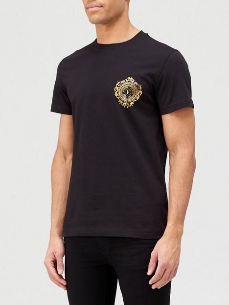 versace-jeans-couture-small-gold-logo-t-shirt-black