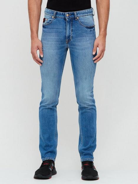 versace-jeans-couture-slim-fit-vintage-wash-jeans-ndash-blue