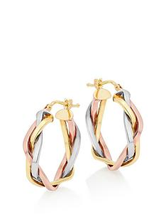 beaverbrooks-beaverbrooks-9ct-gold-rose-gold-and-white-gold-plait-hoop-earrings