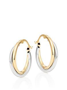 beaverbrooks-beaverbrooks-9ct-gold-and-white-gold-hoop-earrings