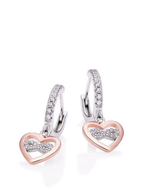 beaverbrooks-beaverbrooks-silver-rose-gold-plated-cubic-zirconia-heart-charm-hoop-earrings