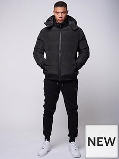criminal-damage-covent-padded-hooded-jacket-blacknbsp