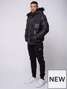 criminal-damage-polar-padded-hooded-jacket-black
