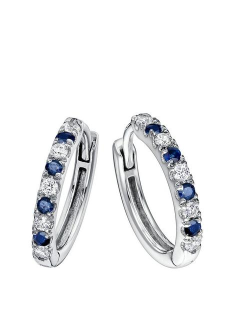 created-brilliance-julia-created-brilliance-9ct-white-gold-created-sapphire-and-018ct-lab-grown-diamond-hoop-earrings