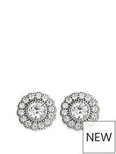 the-love-silver-collection-the-love-silver-collection-925-rhodium-plated-silver-35mm-white-cubic-zirconia-cluster-stud-earrings