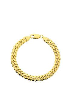 the-love-silver-collection-the-love-silver-collection-gold-plated-sterling-silver-square-8-inch-curb-chain-bracelet