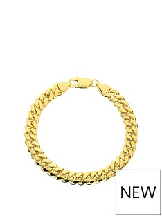 the-love-silver-collection-the-love-silver-collection-yellow-gold-plated-silver-8-inch-large-curb-chain-bracelet