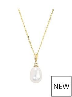 love-pearl-9ct-yellow-gold-oval-drop-freshwater-pearl-pendant