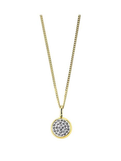 evoke-925-sterling-silver-yellow-gold-plated-swarovski-crystal-85mm-round-pendant