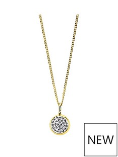 evoke-evoke-925-sterling-silver-yellow-gold-plated-swarovski-crystal-85mm-round-pendant-with-162inch-curb-chain