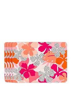 navigate-tribal-fusion-set-of-4-floral-placemats
