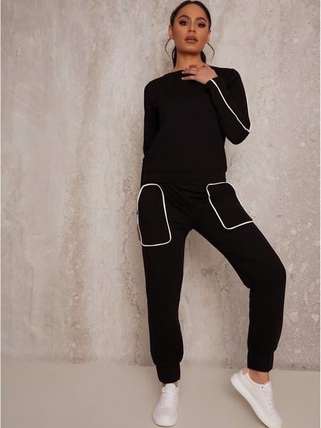 chi-chi-london-contrast-binding-lounge-wear-set-black