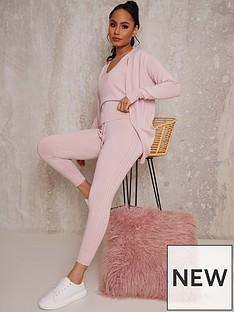 chi-chi-london-3-piece-cardigan-lounge-wear-set-pink