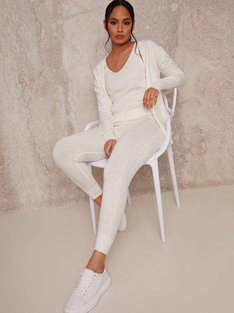 chi-chi-london-3-piece-cardigan-lounge-wear-set-cream