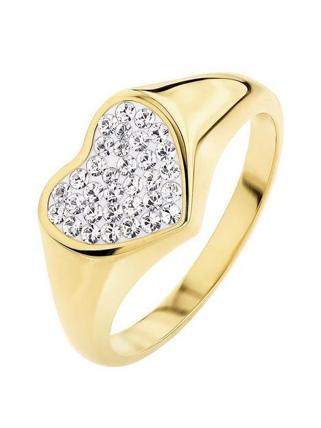 evoke-925-sterling-silver-yellow-gold-platednbspcrystal-heart-signet-ring