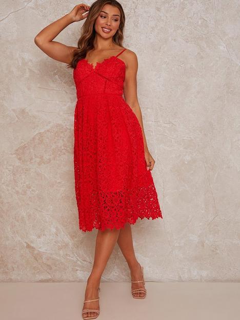 chi-chi-london-sleeveless-crochet-midi-dress-red