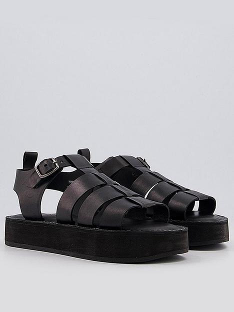 office-scheme-geek-shoe-flat-sandal