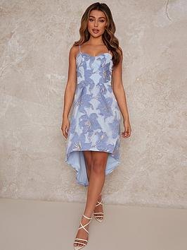 chi-chi-london-jacquard-dip-hem-dress-bluenbsp