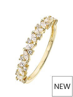 love-gold-love-gold-9ct-yellow-gold-white-cubic-zirconia-half-eternity-ring