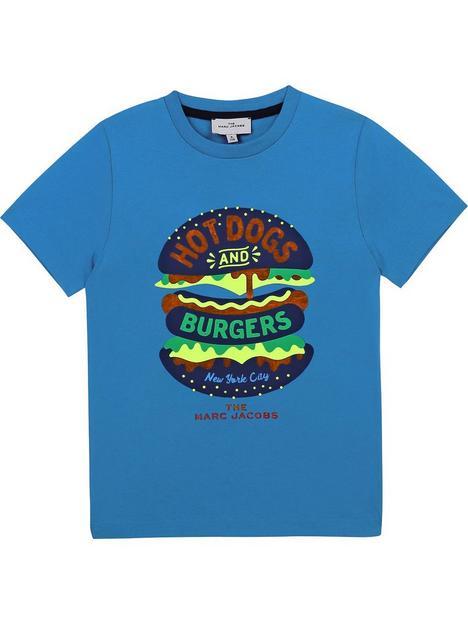 little-marc-jacobs-boys-burger-short-sleevenbspt-shirtnbsp--turquoise