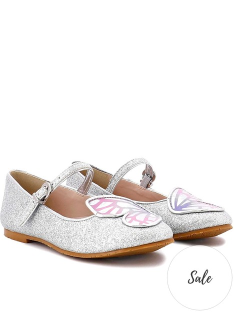 sophia-webster-juniornbspbutterfly-flat-shoesnbsp--silverpastel