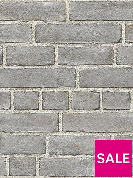 nuwallpaper-brick-faade-grey-stick-on-wallpaper