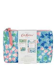 cath-kidston-cath-kidston-bluebells-cosmetic-pouch-with-5ml-moisturising-antibacterial-hand-spray-and-30ml-hand-cream