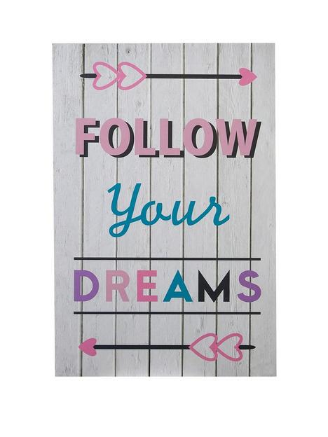premier-housewares-wall-plaque-follow-your-dreams