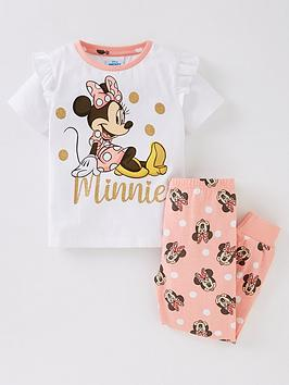 minnie-mouse-girls-minnie-mouse-glitter-frill-pyjamas-white
