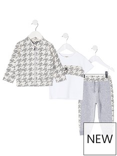 river-island-mini-boys-3-piece-overshirt-jog-and-t-shirt-set--nbspgrey