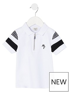 river-island-mini-mini-boys-check-detail-polo--nbspwhite