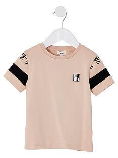 river-island-mini-mini-boys-check-detail-t-shirt--nbspstone