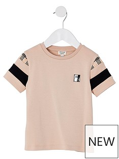 river-island-mini-mini-boys-check-detail-t-shirt--nbspstone