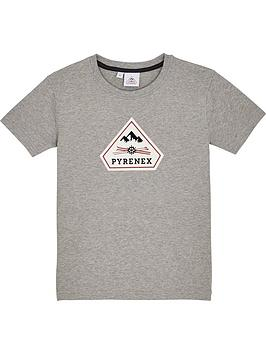 pyrenex-girls-karel-classic-fit-t-shirt-grey-marl