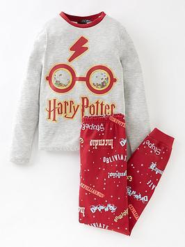 harry-potter-unisexnbspharry-potter-sequin-glasses-pyjamas-burgundy