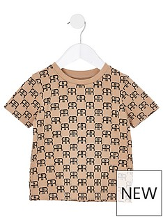 river-island-mini-mini-boys-monogram-t-shirt--nbspstone