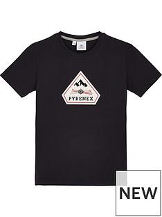 pyrenex-girls-karel-classic-fit-t-shirt-dark-blue