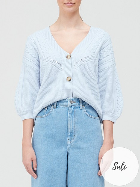 gestuz-soleynbspcable-knit-cardigan-blue
