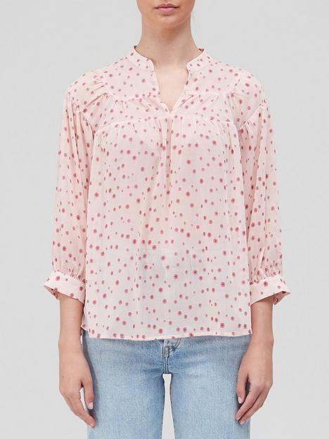 coster-copenhagen-loose-printed-shirt-pink