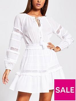 river-island-lace-insert-sleeve-smock-beach-dress-white