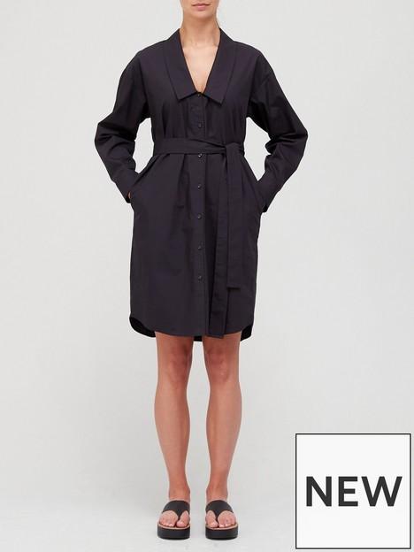 gestuz-jilan-shirt-dress-black