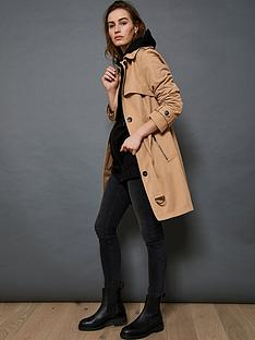mint-velvet-stripe-back-trench-coat-camel