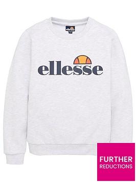 ellesse-junior-boys-core-suprios-sweatshirt-white