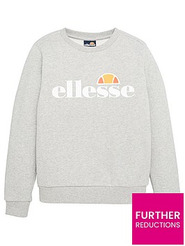 ellesse-junior-boys-core-suprios-sweatshirt-grey