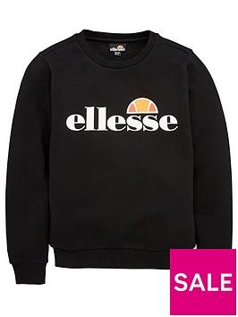 ellesse-junior-boys-core-suprios-sweatshirt-black
